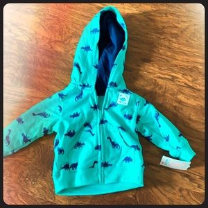 NWT carter zip up jacket 3 month